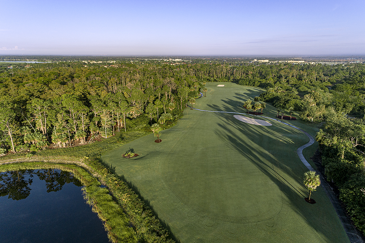Golf Course Hole 14 overhead view